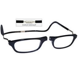 +1.5 CliC Reader-Eyeglasse XXL Expandable Black-Magnetic-Rea