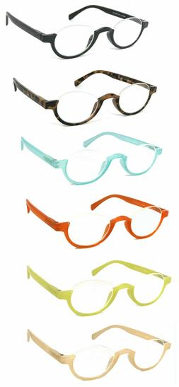 1 or 3 Pair Top Rimless Small Colorful Frame Full Lens Readi