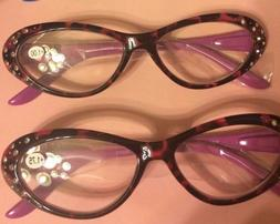 pr. Fuchsia or Brown LEOPARD Readers Eye Glasses - 1.00, 1.