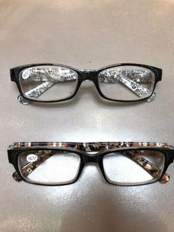 2 Pack  + 2.00 Reading Glasses  - Features A Clear Lens Read
