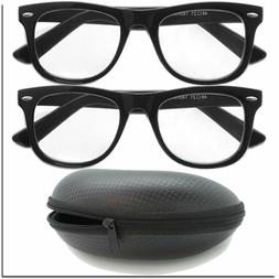 2 Pairs of Reading Glasses with Zipper Case Travel Pack Read