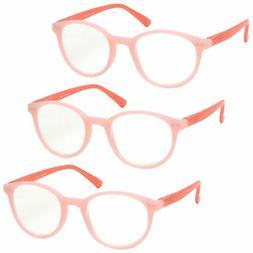 3 Packs Womens Ladies Pastel Reading Glasses Spring Hinges U