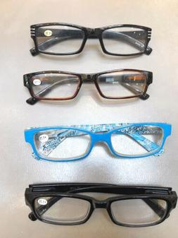 4 Pack  + 1.75 Reading Glasses  - Features A Clear Lens Read