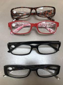 4 Pack  + 2.50 Reading Glasses  - Features A Clear Lens Read