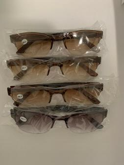 4 Pack    Outdoor Sunglasses  -  A Clear Lens Readers For Me