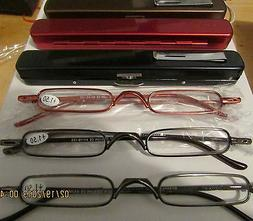 4 pair Thin Slim Light READING GLASSES  quality readers with