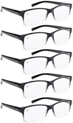 5 Pack Men Vintage Reading Glasses Readers With Spring Hinge