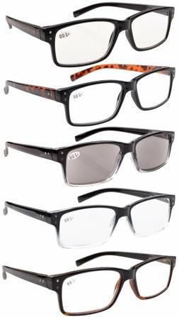 Eyekepper Men 5-pack Spring Hinges Vintage Reading Glasses I