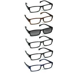 6-pack Spring Hinges Reading Glasses Unisex