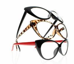 Women Retro Vintage Cat Eye Reading Glasses Readers +1.0 +2.