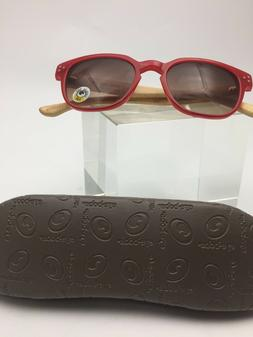 Eyebobs 2.00, Red Reader Sunglasses w/ Bamboo Temples ** NEW