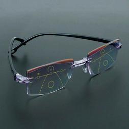 Diamond-cut Presbyopia Eyeglasses Reading Glasses Progressiv