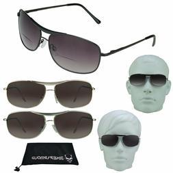 AVIATOR BIFOCAL Reader Sunglasses Mens Ladies METAL Cheaters