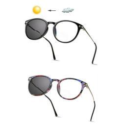 LifeArt Bifocal Reading Glasses,Photochromic Dark Grey Sungl
