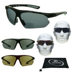 BIFOCAL Sunglasses Sport Sun Readers Golf Semi Rimless Men W