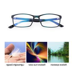 BLUE LIGHT Blocking FASHION Reader Computer Gaming Glasses f