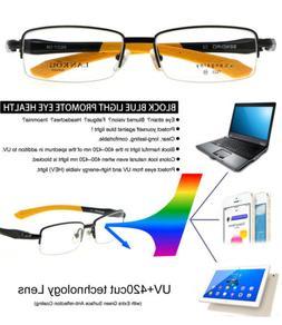 Blue Light Blocking Reading Glasses Sport for Men UV+420 Cut