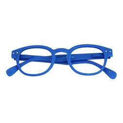 Blue Unisex Round Reading Glasses - Quality Readers