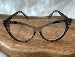 Brown Pink Clear readers Reading Glasses Cateye Cat Eye Rock