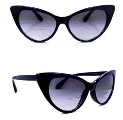 Cat Eye Bifocal Sun Readers Oversized Glasses - 5 Colors