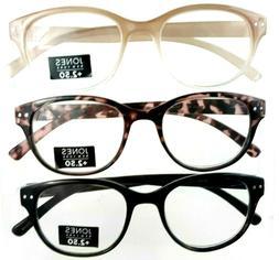 Designer Readers 3 Pack +2.50 Premium Reading Glasses Jones