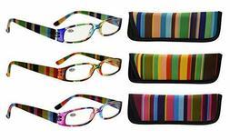 3 Pack Ladies Smaller Readers Reading Glasses for Women