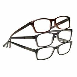 Design Optics By Foster Grant Full Frame Plastic 3pk Men Rea