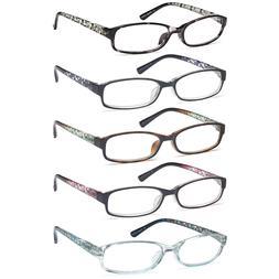 Gamma Ray Women's Reading Glasses 5 Pair Print Ladies Fashio