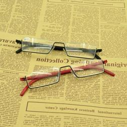 Half Rimless Reading Glasses 1.0 1.5 2.0 2.5 3.0 3.5 Flexibl