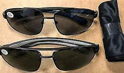 Icon Eyewear Mens Sun Readers - Bifocal - UV 400  +1.25 - 2
