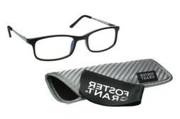 Foster Grant Kramer Black Reading Glasses with Case +1.00