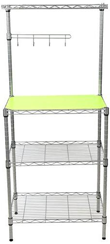 Mind Reader 3 Tier Microwave Shelf Counter Unit with Hooks,