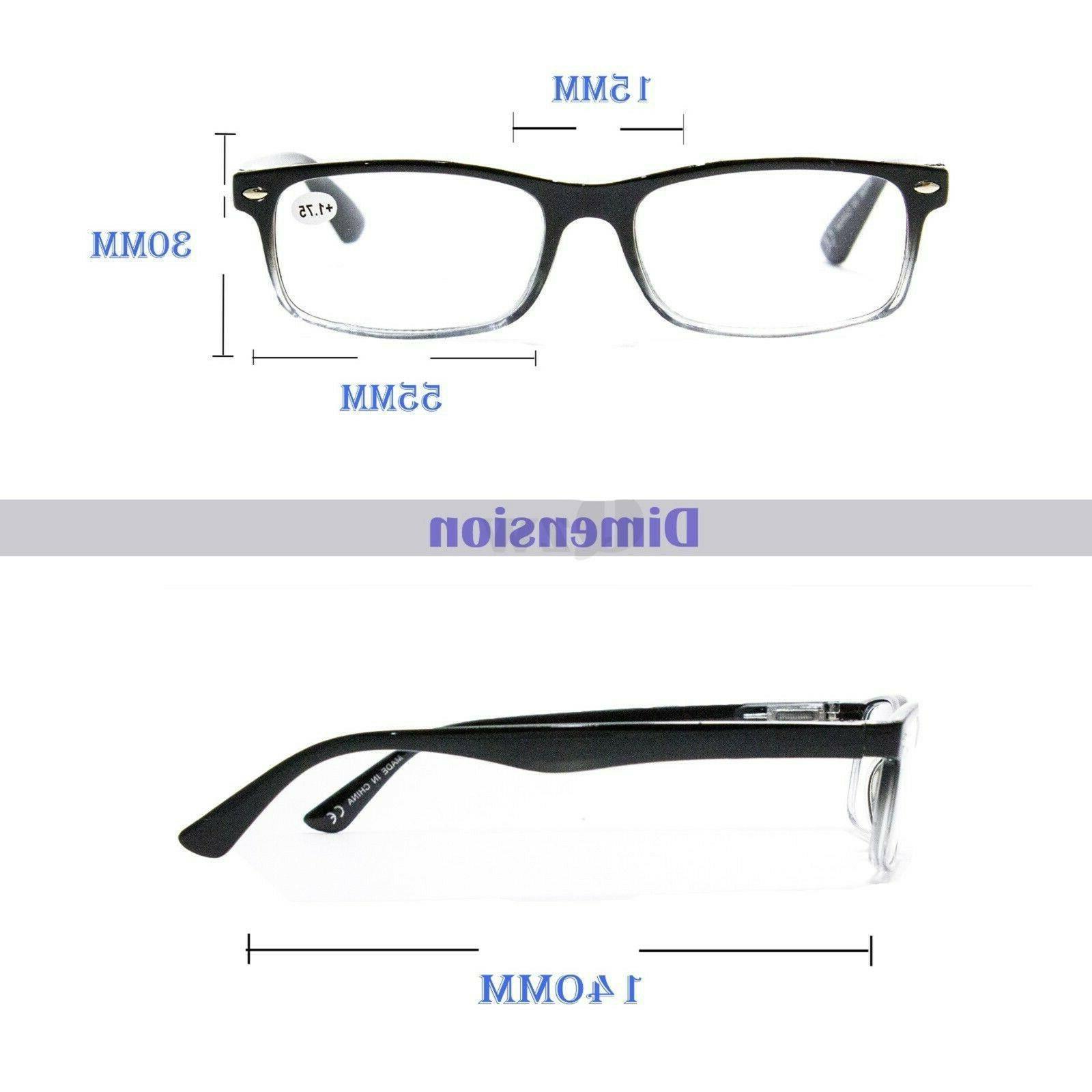 4 Pair Rectangular Hinge Glasses For 1-3