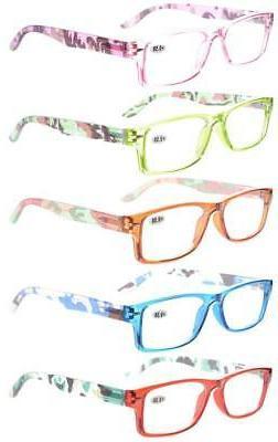 5-Pack Eyekepper Readers Spring-Hinges Reading Glasses Women