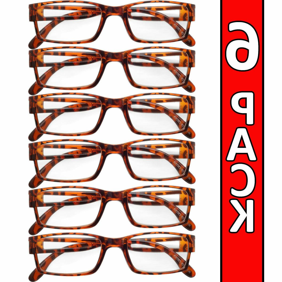 mens womens readers 6 pack square frame