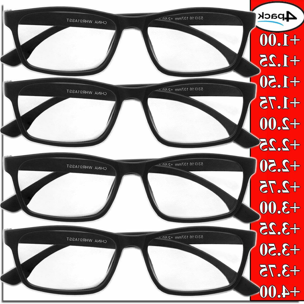 mens womens unisex readers 4 pack square