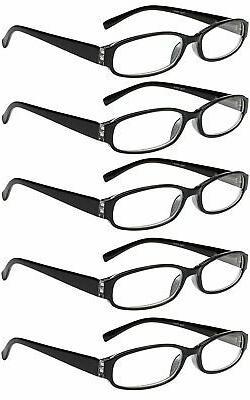 reading glasses 5 pairs spring hinge fashion