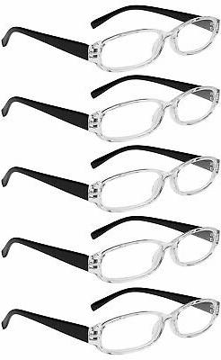 Reading Glasses 5 Pairs Spring Hinge Fashion Quality Readers