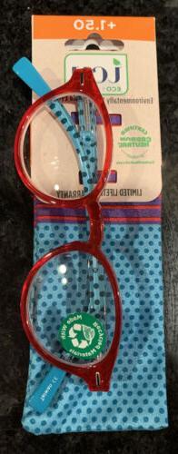 ICU Eyewear Reading Glasses Readers Plastic Frames 1.50 NEW