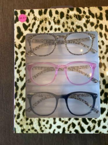 set of 3 readers leopard glasses 2