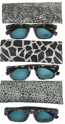 Sun Readers Eyeglasses UV Protection Fun Animal Print Black