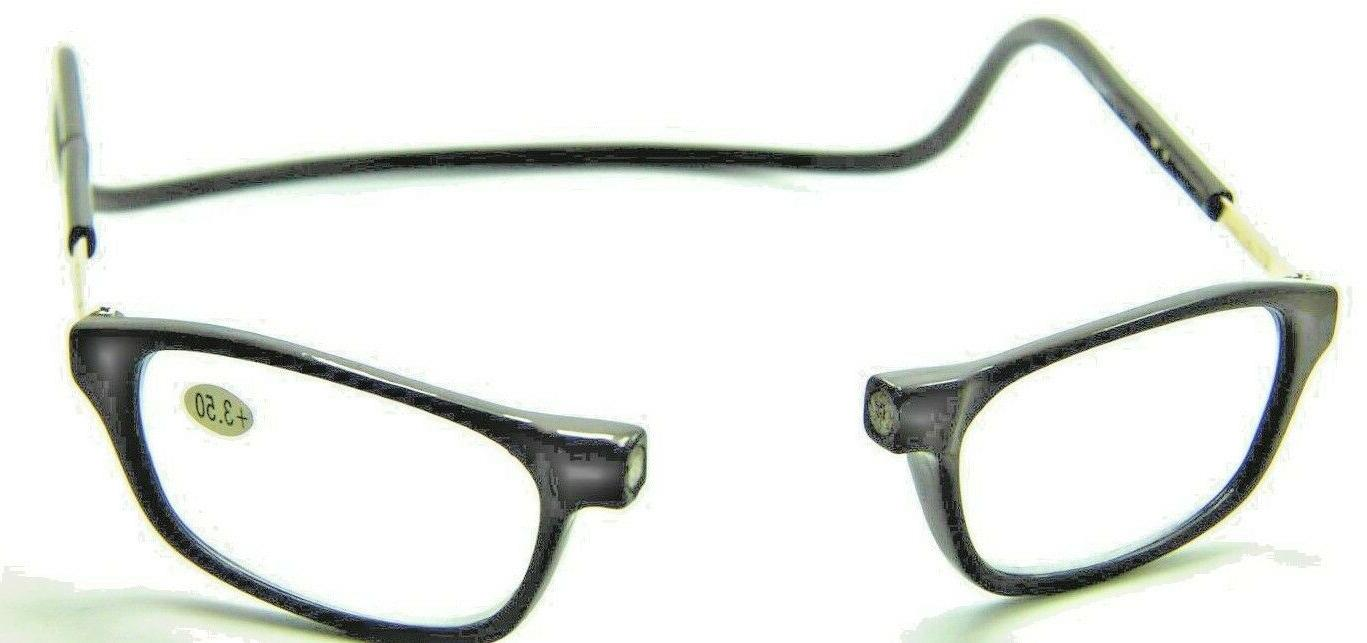 two magnetic readers glasses black and tortoise
