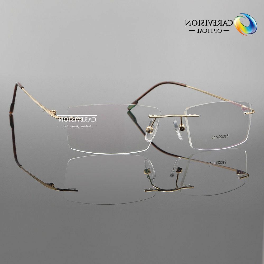 unisex rimless flexible titanium alloy reading glasses