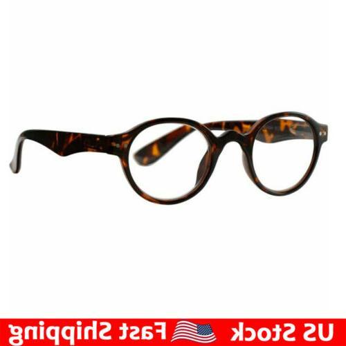 vintage round reading glasses spring hinges readers