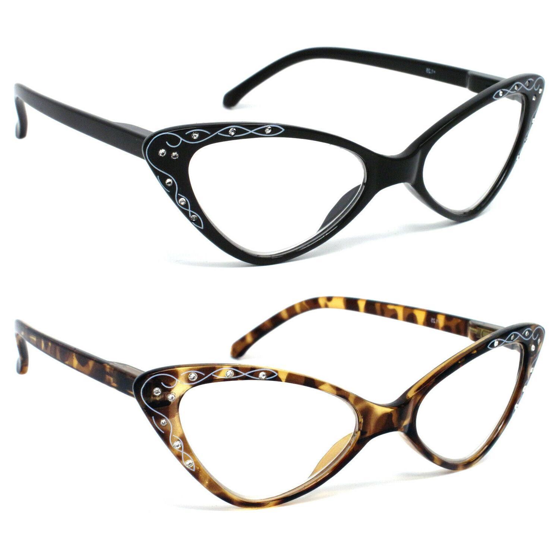 women retro vintage cat eye reading glasses