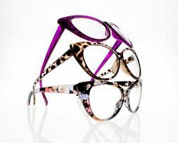 Ladies Luxury Cat Eye Retro Full Frame Eyewear Reader Readin