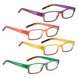 Ladies Reading Glasses - 4 Pack Readers for Women Reading