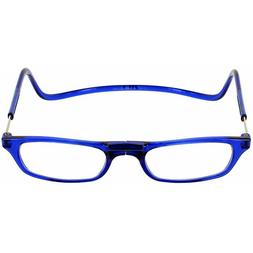 CliC MAGNETIC neck hanging READERS, snap click it | Blue | 1