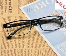 Men Rectangular Reading Glasses Metal Readers Eyeglass 1.0 1