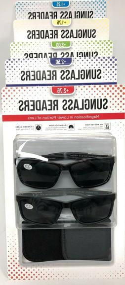 Men's Reading Sunglasses, 2-pack Sunglass Readers with Cases